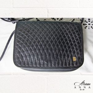 Bally Bags - Bally Black Leather Quilted Small Cross Body Purse
